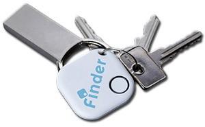 Musgear Schlüsselfinder am Schlüsselbund zeigt Größe und Einsatzbeispiel