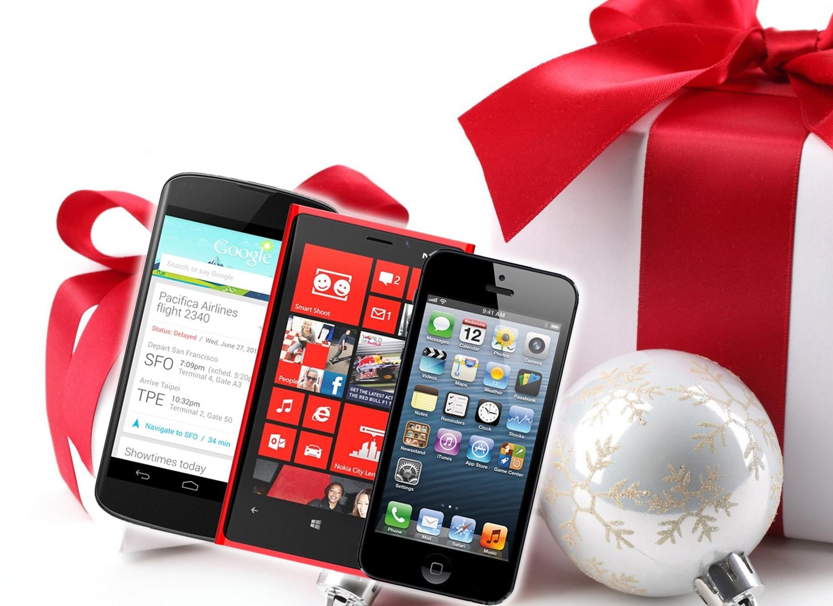 Beliebte Smartphones zu Weihnachten