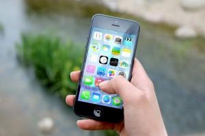 Benutzung eines Smartphones