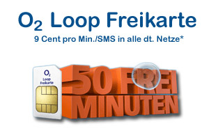 o2 Loop Prepaidkarte - kostenlos