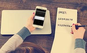 Notiz der IMEI Nummer