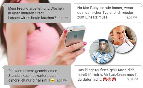 Freundin betrügt Ihren Freund, während er arbeiten ist und er erfährt es über WhatsApp wie die Screenshots zeigen.