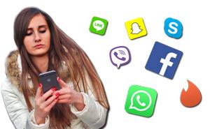 Facebook, WhatsApp, Tinder, Skype, Viber, Line und Snapchat des Partners kontrollieren
