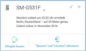 kostenloser Handy-Finder Android Ortungsdienst von Google