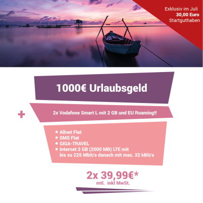 Vodafone Smart L inkl. 1.000 € Auszahlung