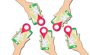 Standort mit Freunden teilen