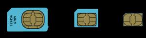 Standard / Mini-SIM, Micro-SIM und Nano-SIM